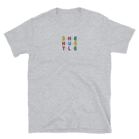 SHE HUSTLE stitched loose fit T-Shirt