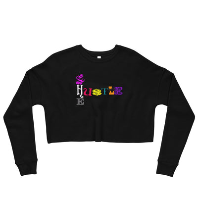 SHE HU$TLE Crop Sweatshirt