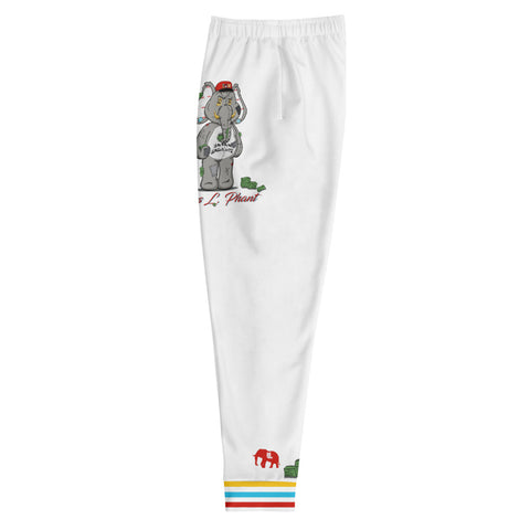 Huss ring cuff Joggers WHITE