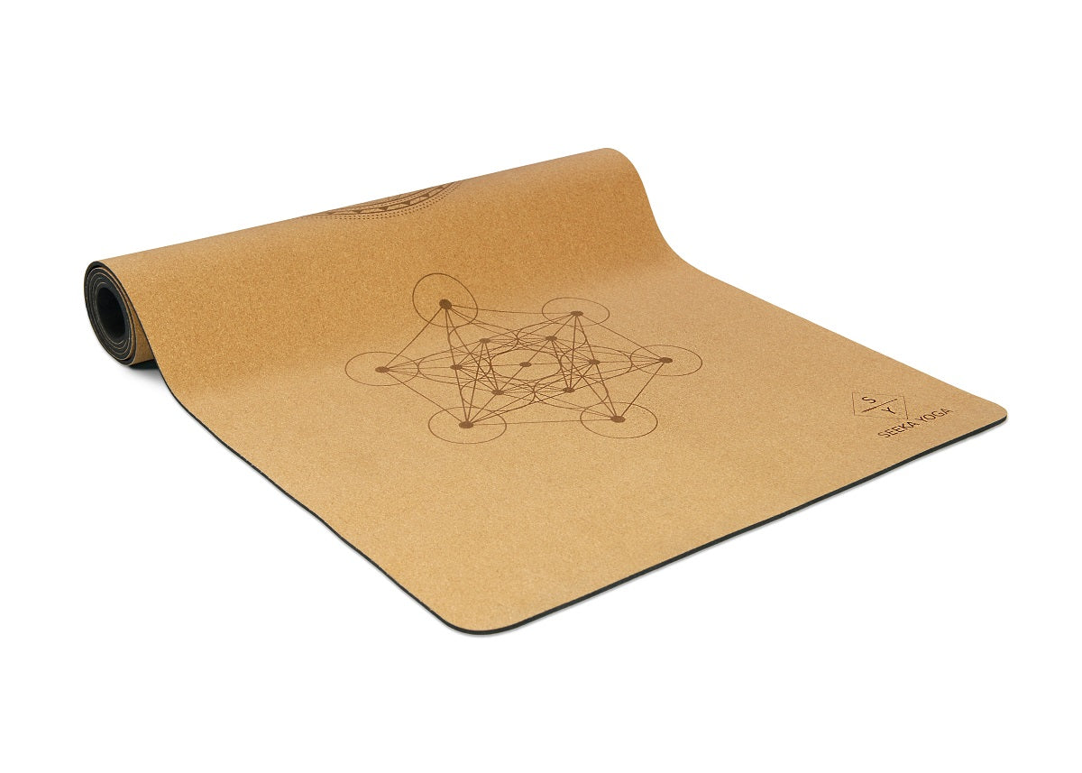Natural Cork Yoga Mat - Sacred Geometry Mandala *PREORDER*