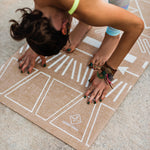 Load image into Gallery viewer, Organic Jute Yoga Mat - Tribal