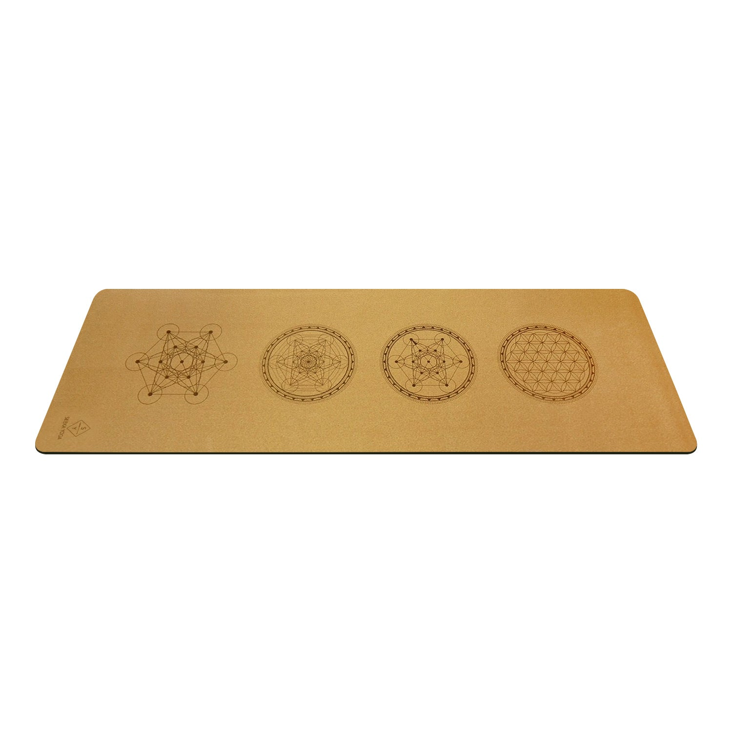 Natural Cork Yoga Mat - Sacred Geometry Mandala