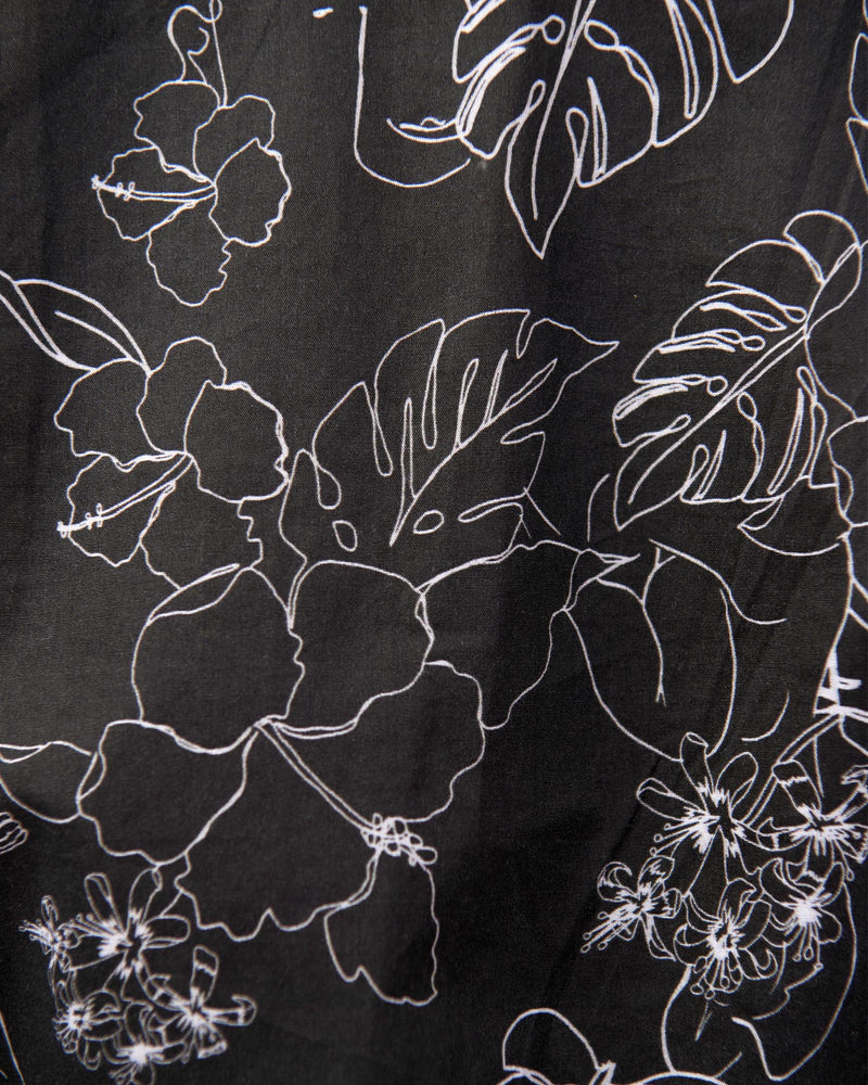 Clementine Blouse - Black Sketch Floral