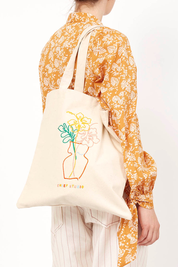 Hibiscus Organic Cotton Tote Bag - Chief Studio