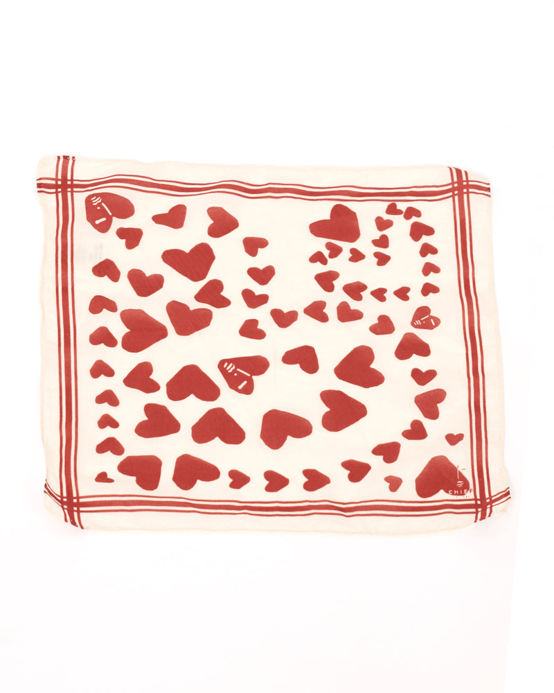 Heart Print Mini Scarf