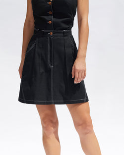 Maia Mini Skirt - Black - Size 6