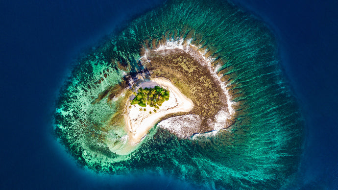 Aerial photo of an island - W-Photographie