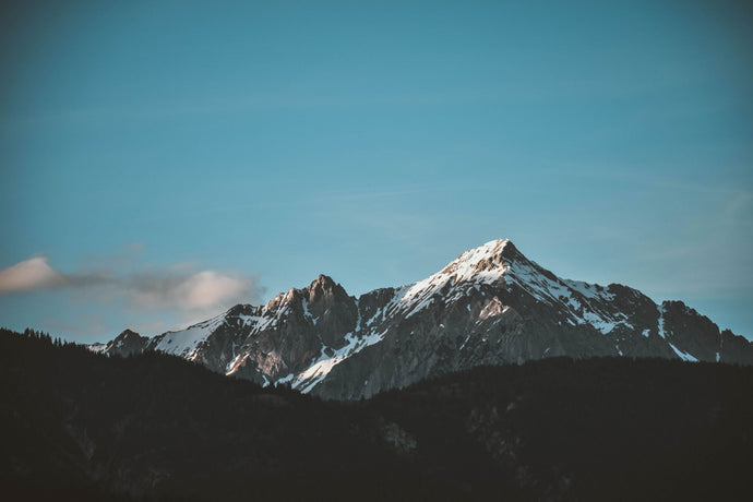 Snow on top of the mountain with clear sky - W-Photographie