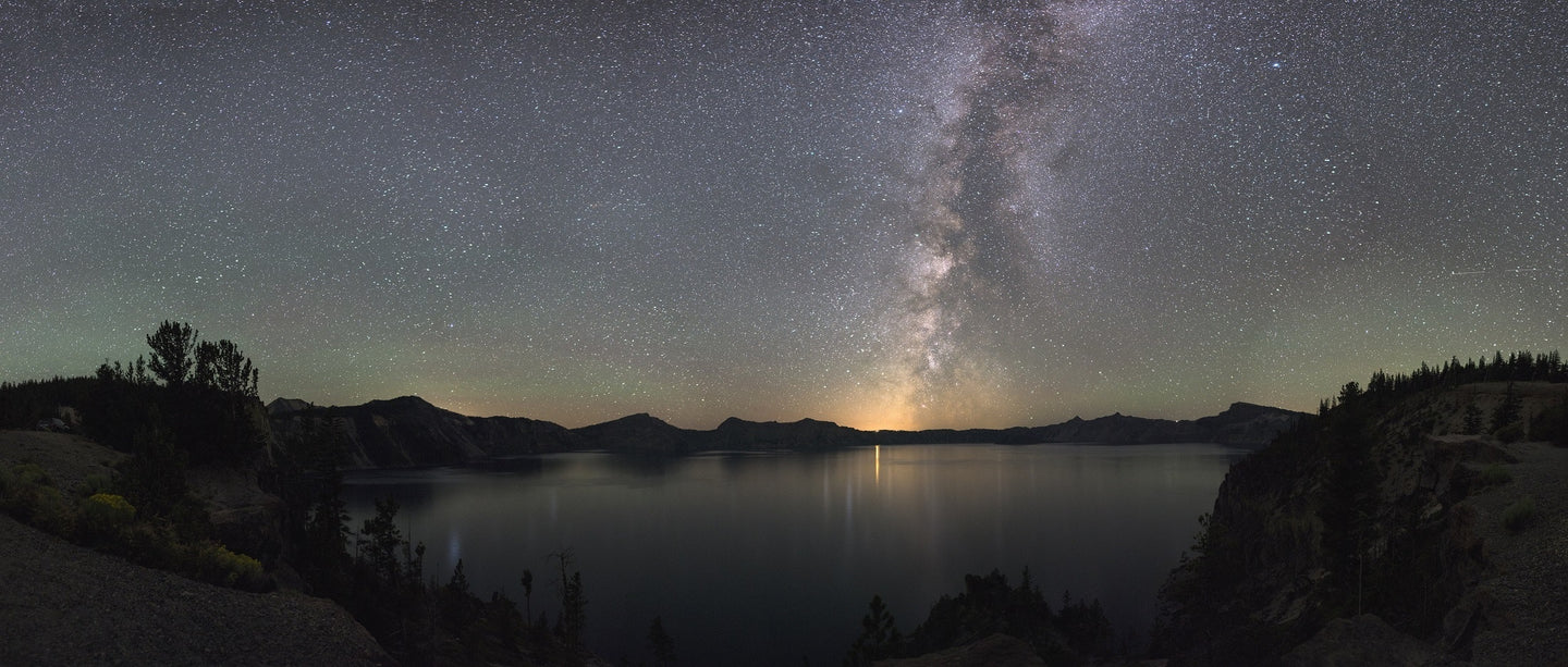 Astronomy cosmos crater lake national park dawn - W-Photographie
