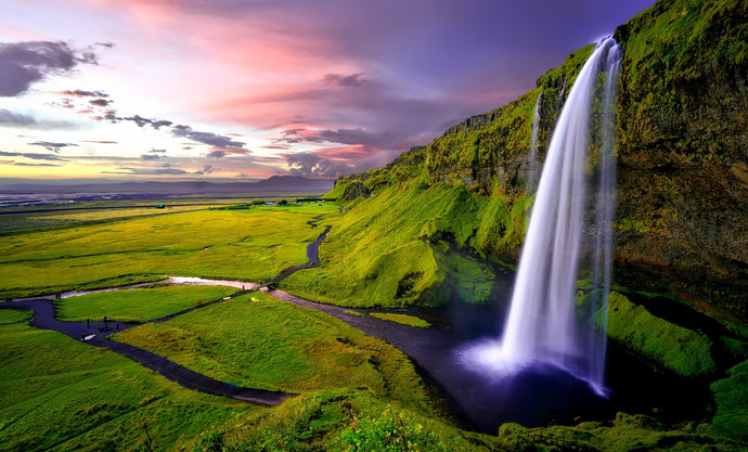 Time lapse photography of waterfalls during sunset - W-Photographie