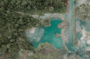 Aerial photography of blue lake - W-Photographie