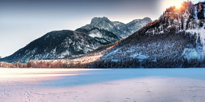 Mountain covered with snow - W-Photographie
