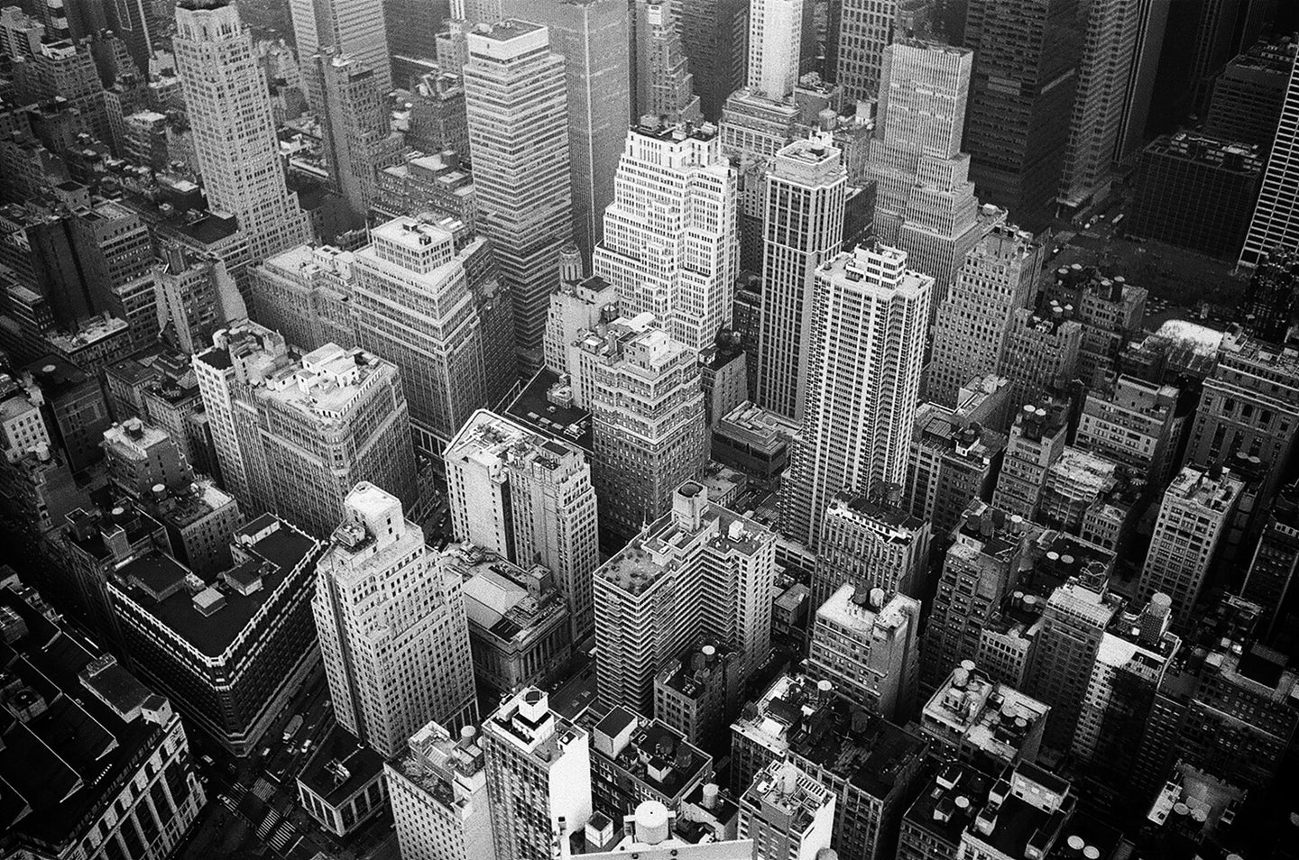 Aerial view and grayscale high rise buildings photography - W-Photographie