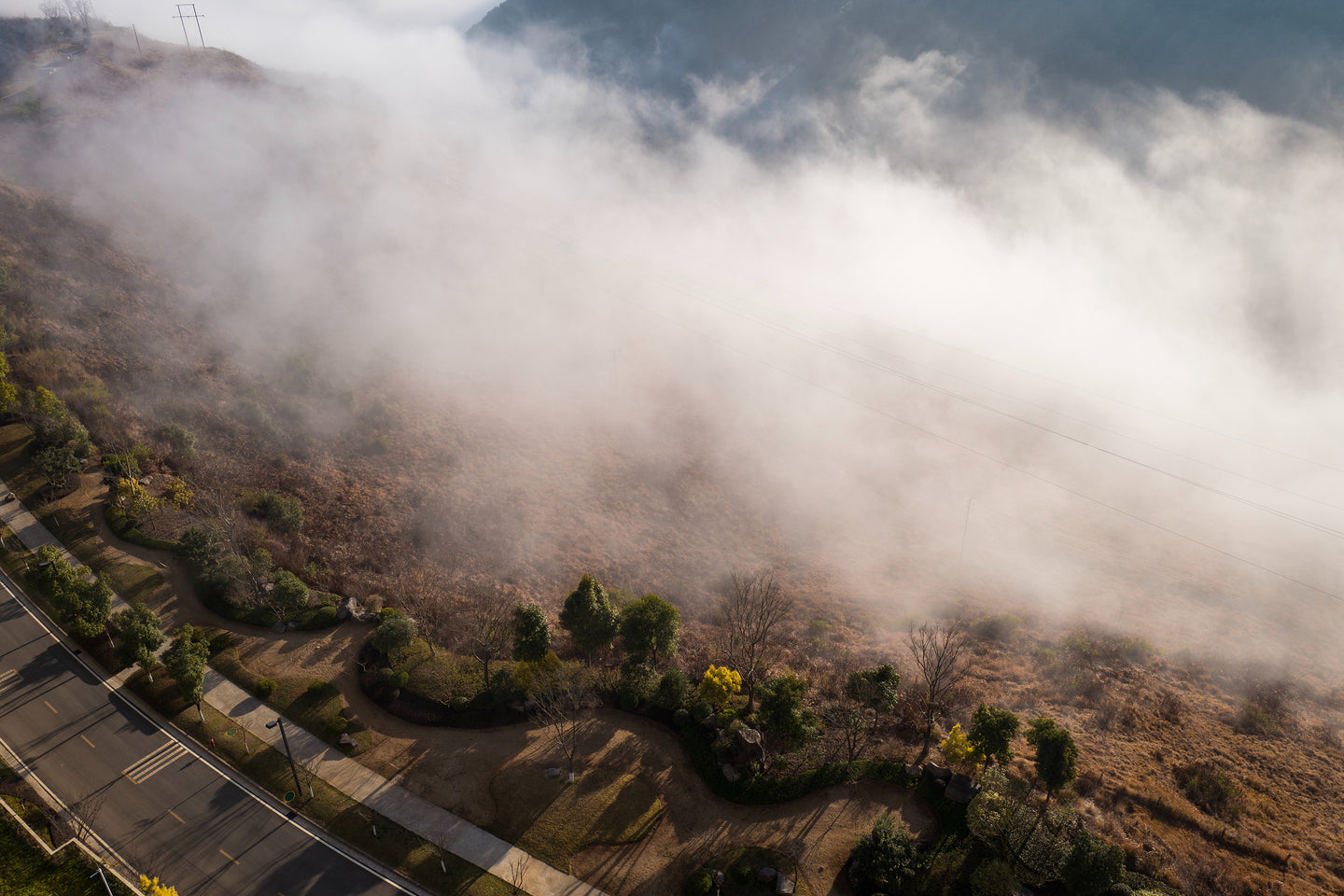 Aerial photography of fog - W-Photographie