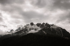 Grayscale photography of mountain - W-Photographie