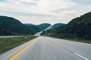 Landscape hilly hills highway - W-Photographie