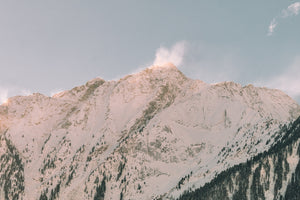 Mountain coated by snow landscape photography by Eberhard Grossgasteiger