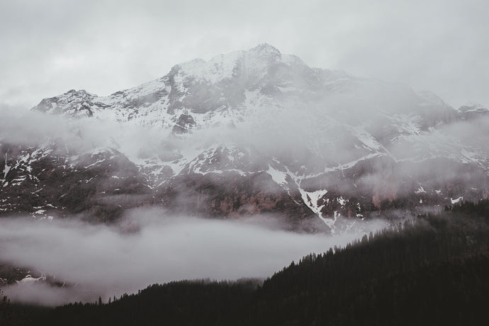 Photo of foggy mountain