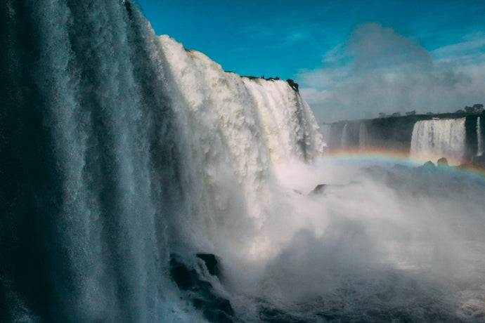 waterfall with rainbow - W-Photographie