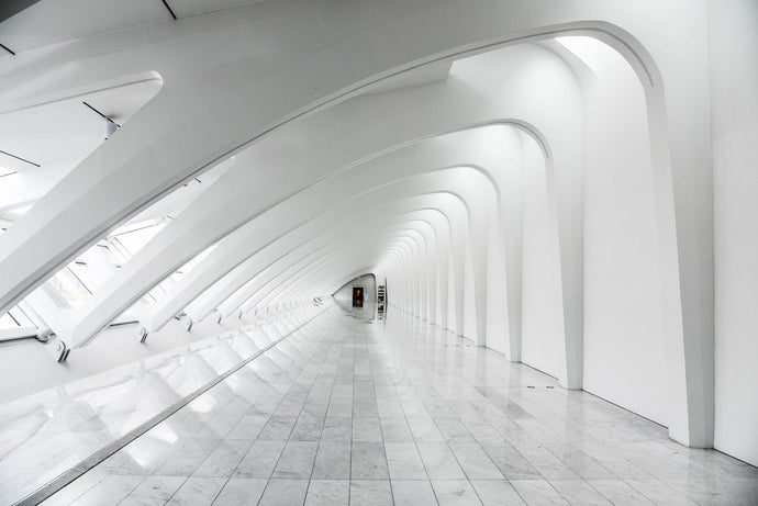 Long exposure photography white dome building interior - W-Photographie