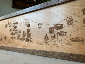 Long Island Craft Brewery Map by Oak Neck Design