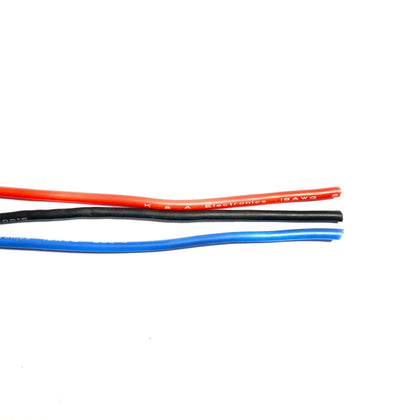 18AWG Stranded-Core Silicone Wire-Wire-K & A Electronics-K and A Electronics