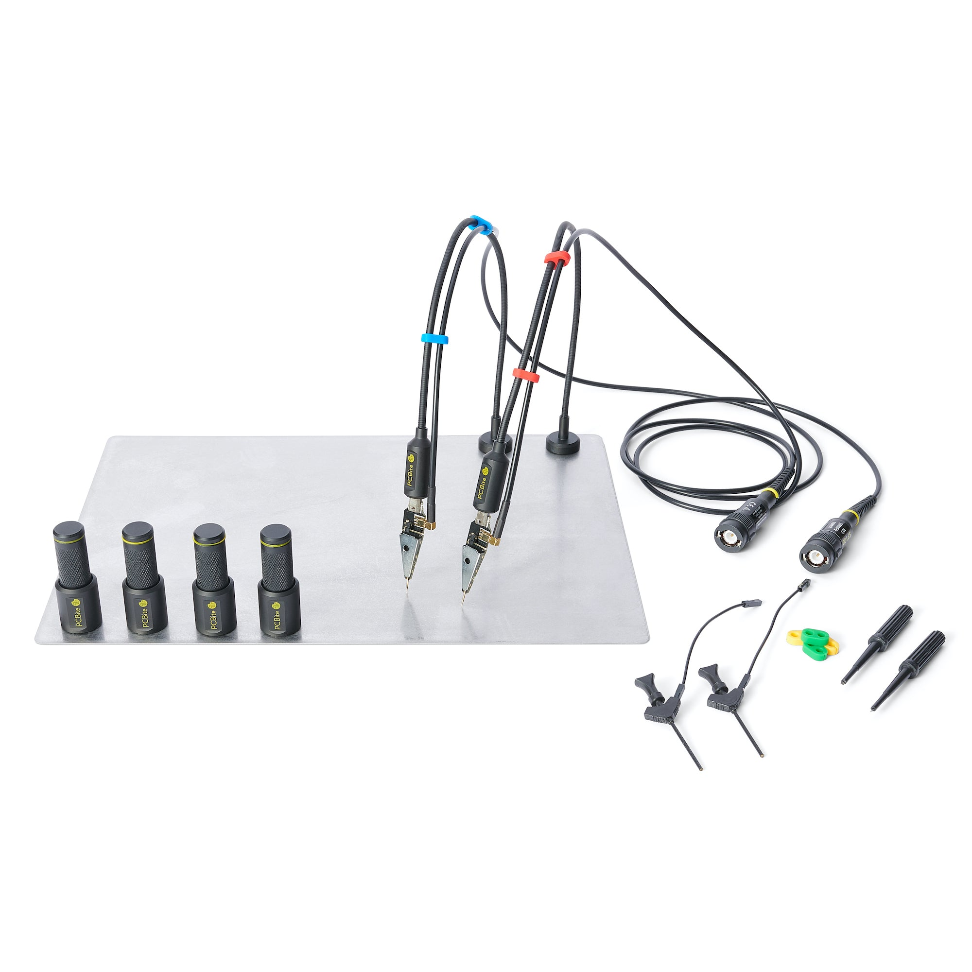 PCBite kit with 2x SP200 200 Mhz handsfree oscilloscope probes