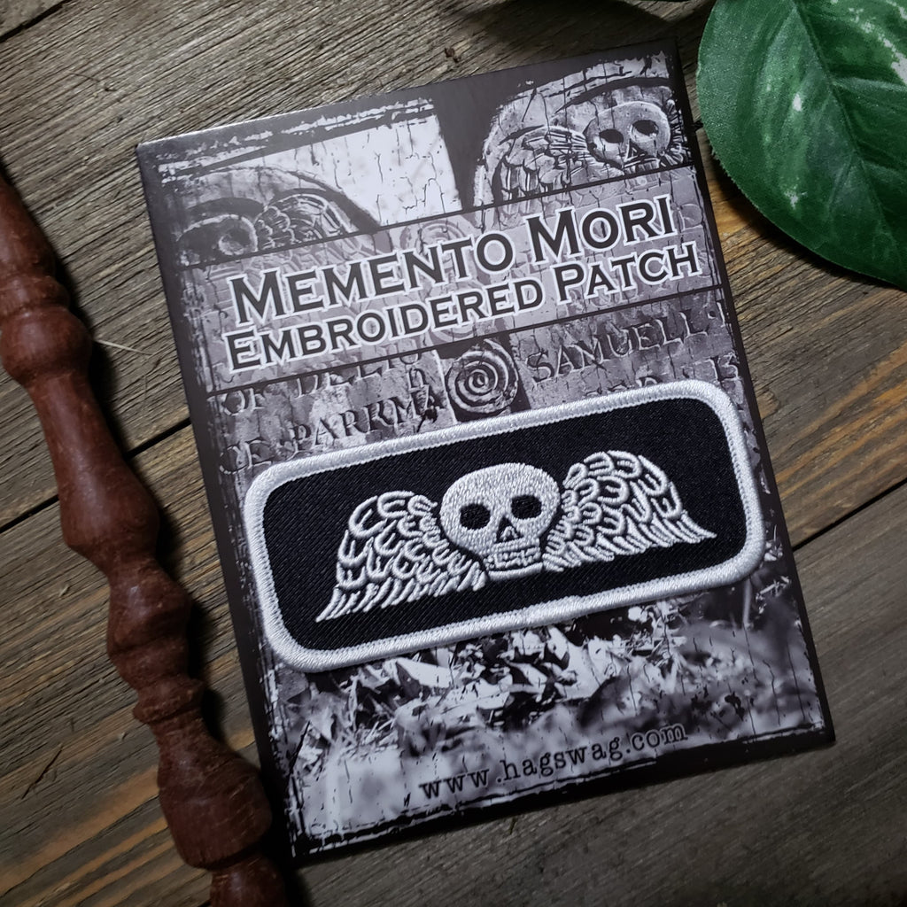 Memento Mori Embroidered Patch