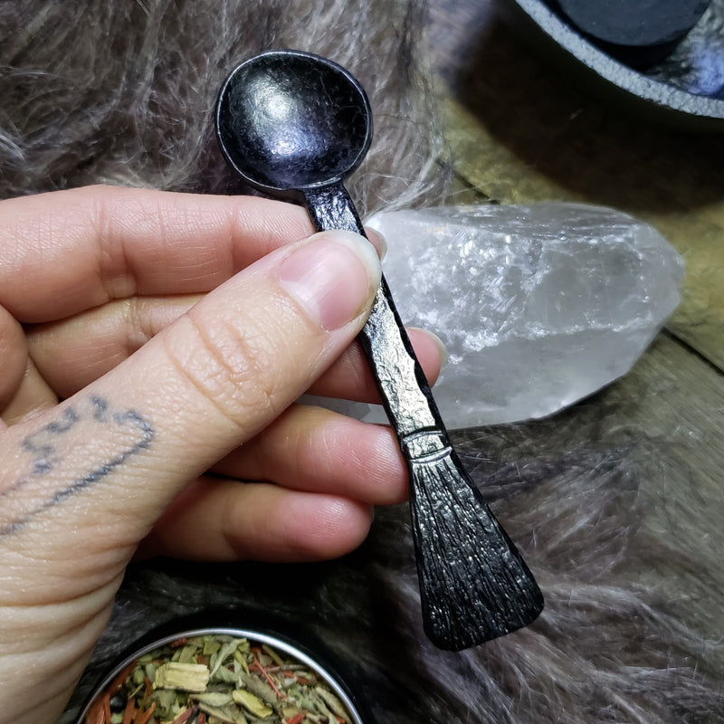Besom Incense Spoon