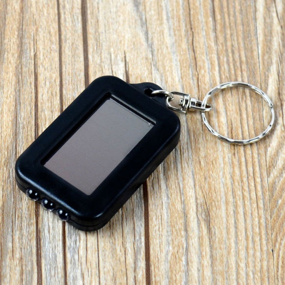Mini Portable Solar Power 3 LED Light Keychain