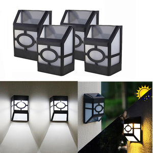4pcs/lot 2LEDs Solar Light Sunlight Power Wall Lamp Waterproof