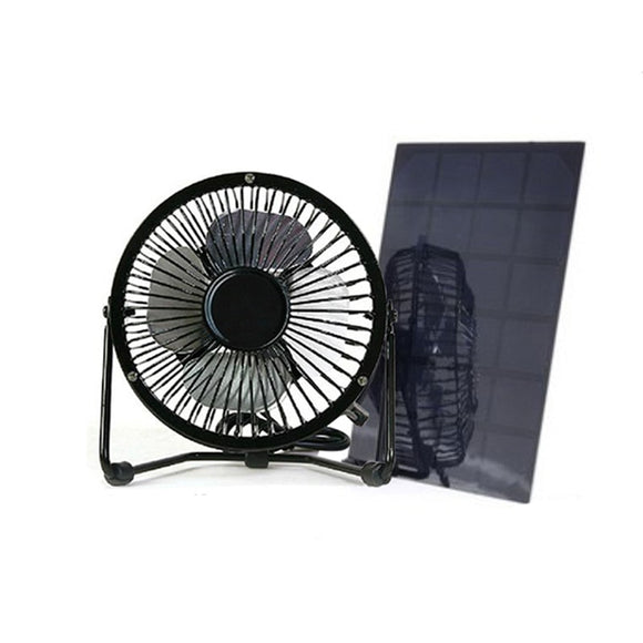 Usb And Solar Mini Fan 4 Inch & 6 Inch Size 5w Solar Panel