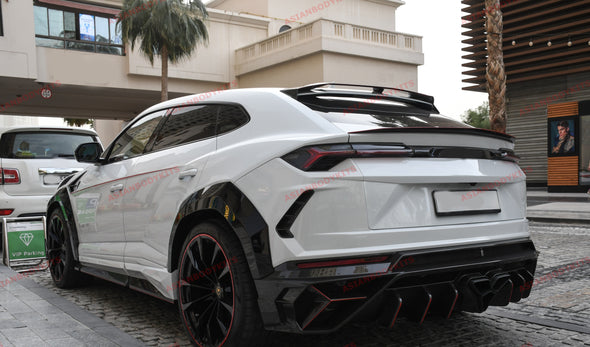 DRY CARBON FIBER MIDDLE TRUNK SPOILER for LAMBORGHINI URUS 2018+