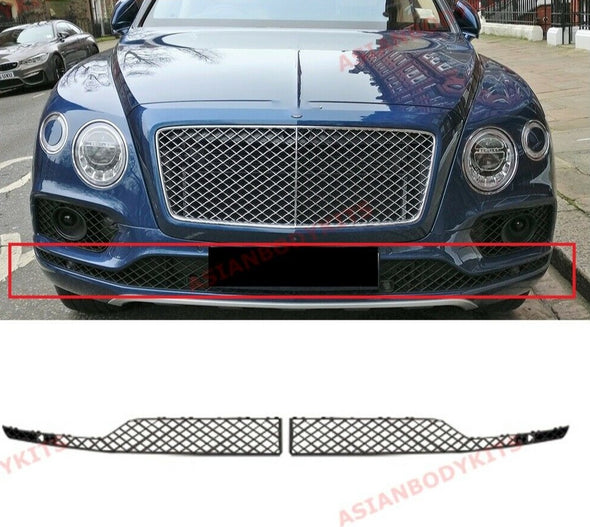 BENTLEY BENTAYGA BLACK LOWER MESH for FRONT BUMPER