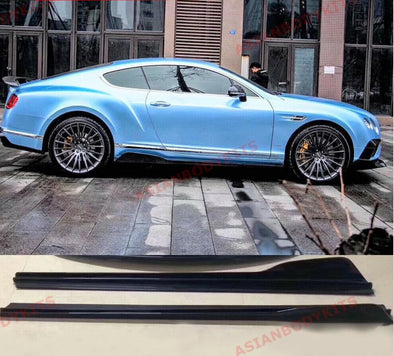 CARBON FIBER SIDE SKIRTS ADD ONS for BENTLEY CONTINENTAL GT GTC 2011 - 2018