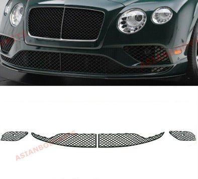 BLACK FRONT BUMPER LOWER MESH GRILLE BENTLEY CONTINENTAL