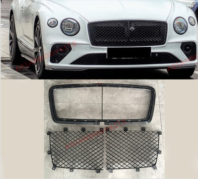 BLACK FRONT GRILLE for BENTLEY CONTINENTAL GT V8 W12 2018+