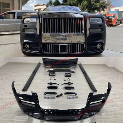 Body Kit for Rolls Royce Ghost 2014 - 2020 Front Bumper Side Skirts Rear Bumper