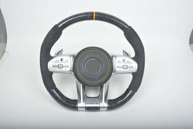 CUSTOM CARBON STEERING WHEEL AMG for MERCEDES BENZ G-Class C E S AMG GT GLE GLS GLC CLS