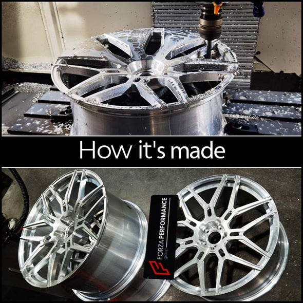 "FORGED WHEELS 2-Piece for Any Car,  (size from 18"" to 22"" inch)  A17"