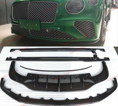 DRY CARBON FIBER BODY KIT for BENTLEY CONTINENTAL GT 2018+ FRONT LIP DIFFUSER