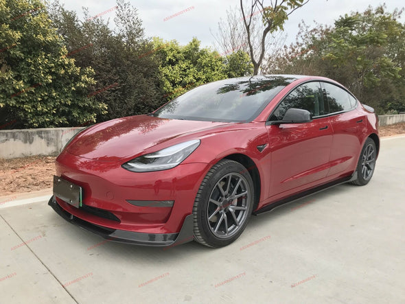 DRY CARBON FIBER FRONT LIP VRS for TESLA Model 3 2016+