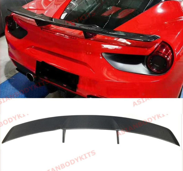 DRY CARBON FIBER REAR WING SPOILER for FERRARI 488 GTB Spyder 2015 - 2019