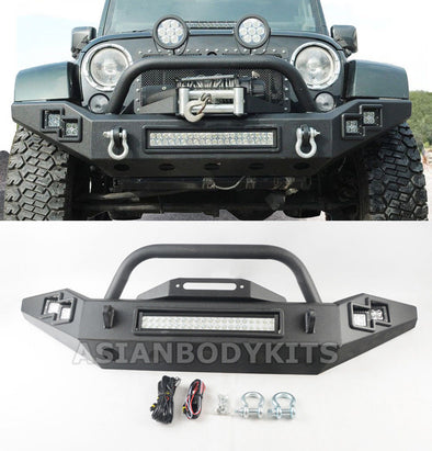 FRONT BUMPER with LED DRL for Jeep Wrangler JK (2007-2017)
