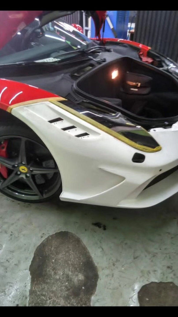 Front bumper HOOD Bonnet for Ferrari F458 DMS style for Italia Spider 10-14