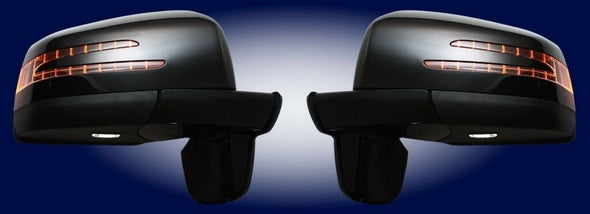 for Mercedes Benz W463 G class G500 G55 Mirrors Facelift (BLACK PAINTED) 86 - 99