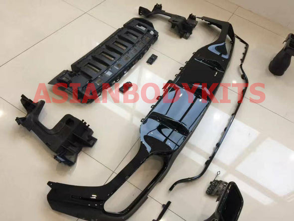 Mercedes Benz E class W213 AMG E63 REAR DIFFUSER with BLACK exhaust tips