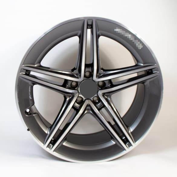 MERCEDES-AMG 5-DOUBLE-SPOKES BLACK TANTALGREY