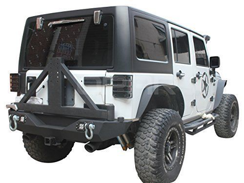 REAR BUMPER with tire rack for Jeep Wrangler JK (2007-2017)