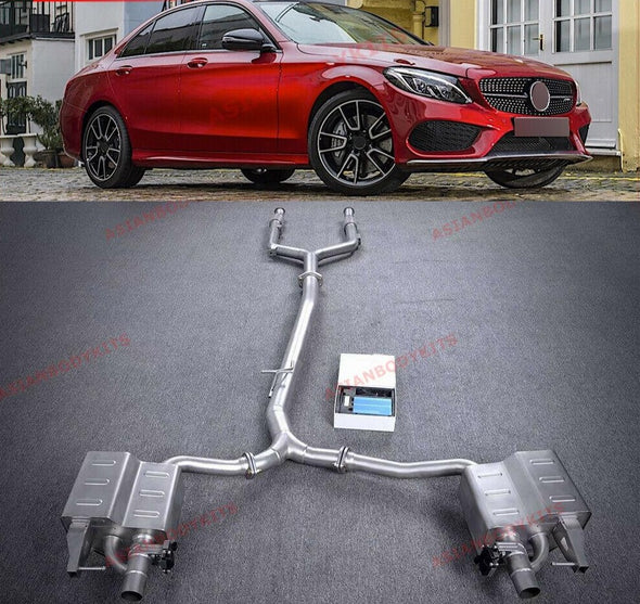 VALVED EXHAUST CATBACK for Mercedes Benz AMG W205 C205 C43